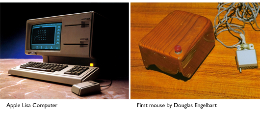 Apple Lisa and the first mouse by Douglas Engelbart